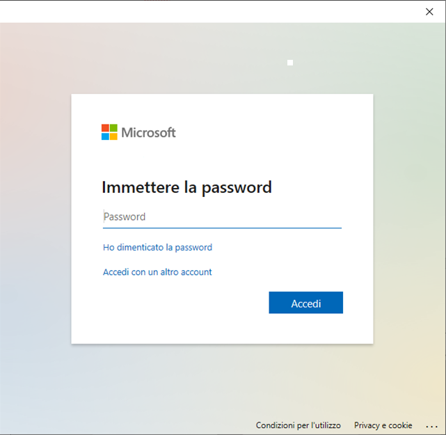 configurare-teams-inserire-password