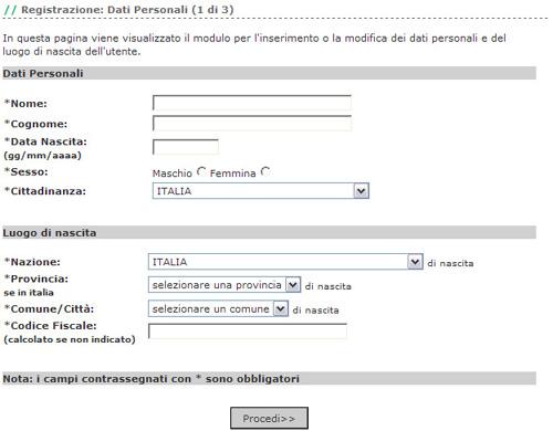 Iscrizione online for Bonifico ristrutturazione