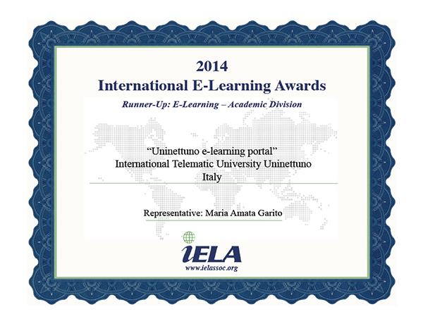IELA Award Certificate